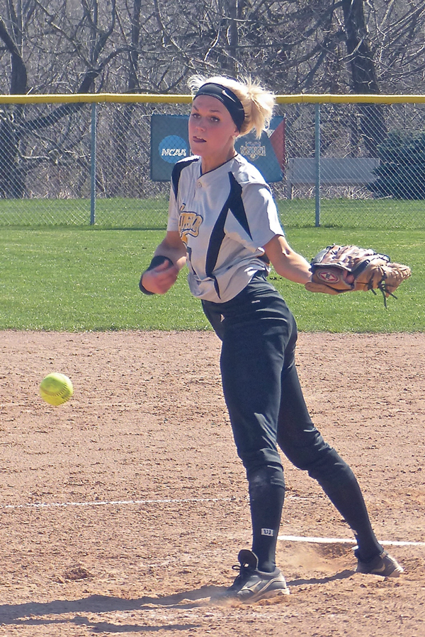 "Macy Hanson shared pitching duties with UWS until leaving the final because ""My arm was shot."""