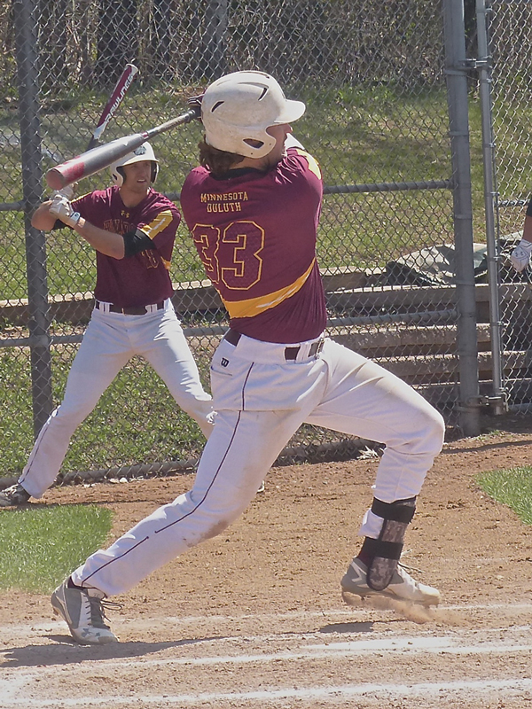 Third baseman Kyle Comer is another of UMD's potent long-ball attack.  Photo credit: John Gilbert