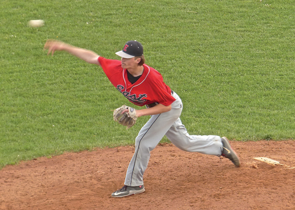 Casey Alpin went the distance as East defeated Cambridge-Isanti 3-2 in a Section 7AAA game. Photo credit: John Gilbert