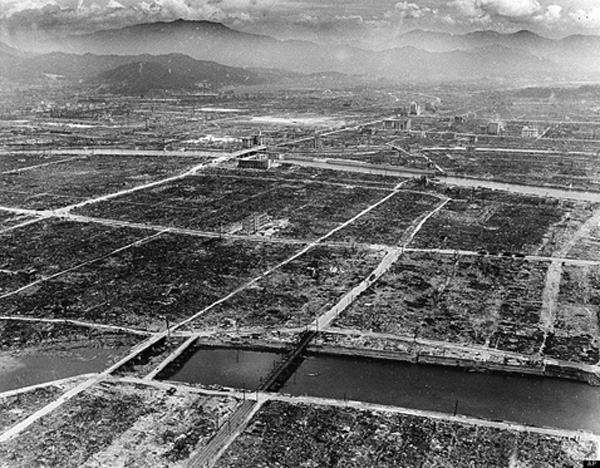 The atomic bombing of Hiroshima Japan Aug. 6, 1945 (pictured above after streets were cleared) was gob-smacking. It incinerated with one device what had taken 464 separate B-29 bombers using firebombs to accomplish against Tokyo on April 26 that year.